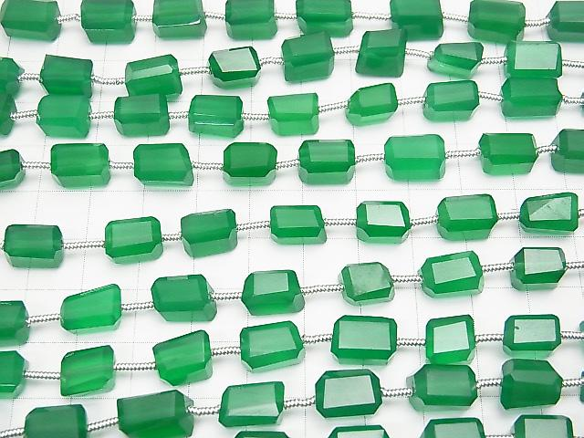 1strand $14.99! High Quality Green Onyx AAA Faceted Nugget 1strand (aprx.7inch / 17cm)