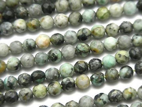 1strand $6.79! African Turquoise  32Faceted Round 4mm 1strand (aprx.15inch/37cm)