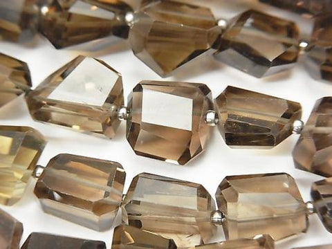 High Quality Smoky Crystal Quartz AAA-  Faceted Nugget  half or 1strand (aprx.15inch/38cm)