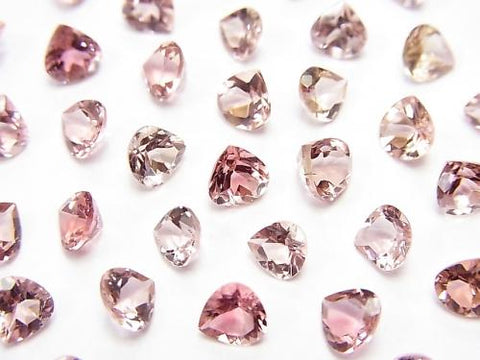 High Quality Pink Tourmaline AAA Undrilled Chestnut Faceted 5x5mm 4pcs $19.99! - kenkengems.com