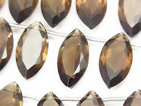 High Quality Smoky Crystal Quartz AAA Marquise Faceted 20x10x5mm half or 1strand (8pcs )
