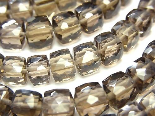 1strand $14.99High Quality Smoky Crystal Quartz AAA- Cube Shape  1strand (aprx.7inch/18cm)