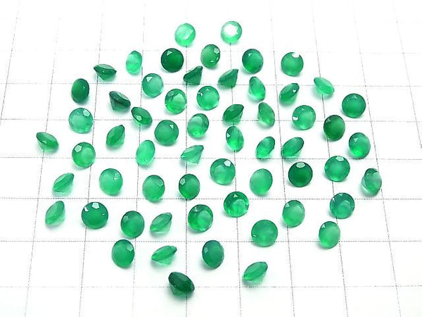 High Quality Green Onyx AAA Undrilled Round Faceted 5x5mm 10pcs $4.79!