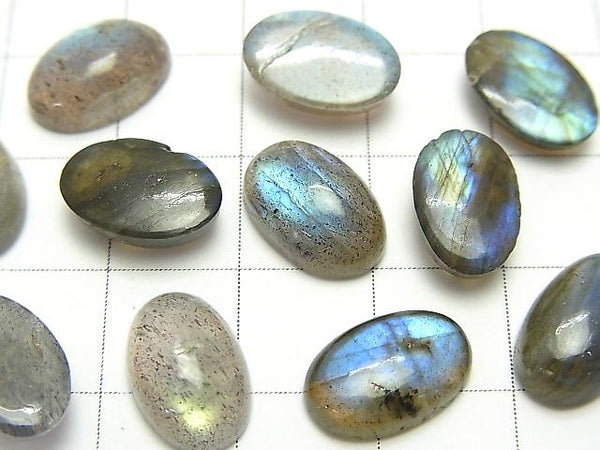 High Quality Labradorite AAA- Oval  Cabochon 12x8mm 5pcs $11.79!