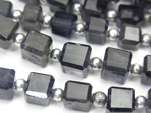 1strand $24.99High Quality Iolite AA++ Cube Shape  1strand (aprx.7inch/18cm)