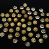 Rutilated Quartz AAA Round  Cabochon 8x8mm 5pcs $24.99!