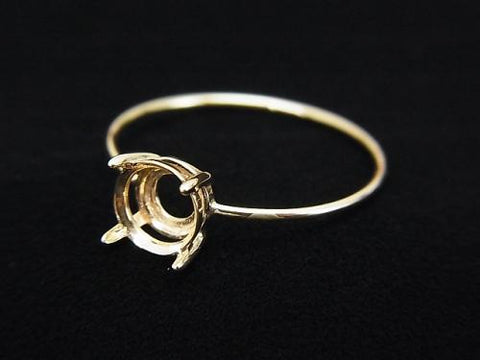 Japan! [K10 Yellow Gold] 1pc for Round Faceted 6mm (Ring Faceted)