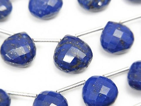 1strand $29.99! High Quality Lapislazuli AAA- Chestnut Faceted Briolette  1strand (13pcs )