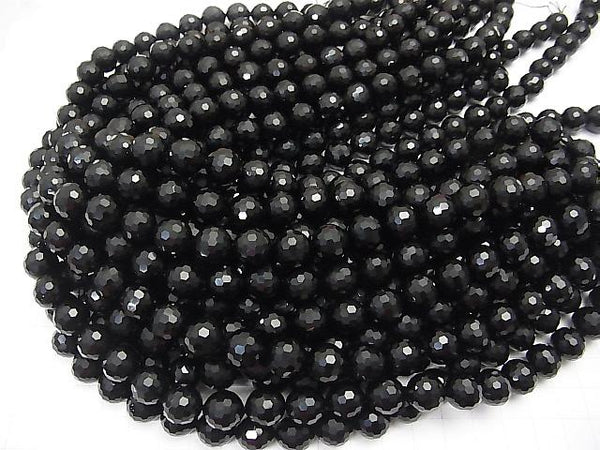 High Quality!  1strand $11.79! Onyx AAA 128Faceted Round 12mm half or 1strand (aprx.15inch/38cm)