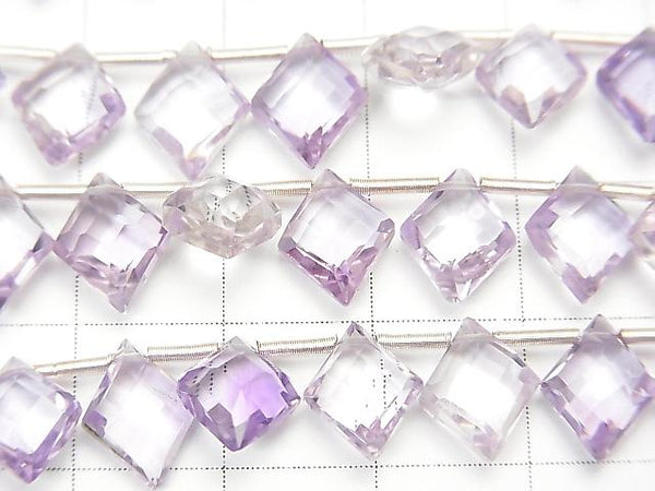 [Video] High Quality Pink Amethyst AAA Diamond Shape 10x8mm half or 1strand (18pcs).