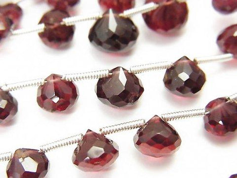 1strand $16.99 High Quality Mozambique Garnet AAA Onion Faceted Briolette 1strand (aprx.7inch / 18cm)