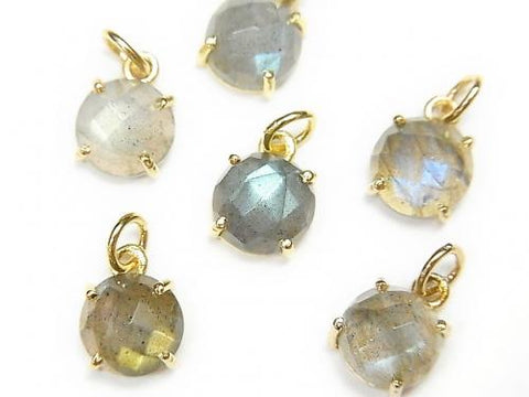High Quality Labradorite AAA Bezel Setting Round 8x8mm 18KGP 2pcs $9.79!
