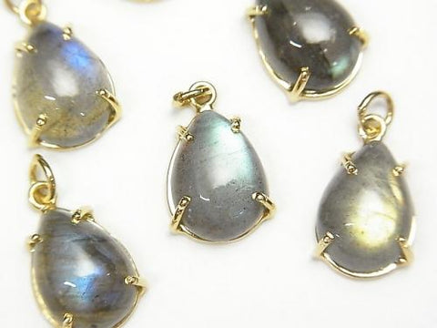 High Quality Labradorite AAA Bezel Setting Pear shape 14x10mm 18KGP 2pcs 2,380!