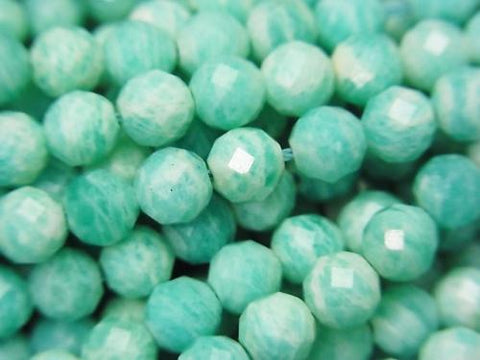 High Quality!  1strand $8.79! Amazonite AA Faceted Round 5mm  1strand (aprx.15inch/37cm)
