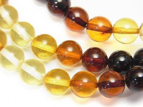 1strand $24.99! Baltic Amber Round 6mm Multicolor 1strand (Bracelet)