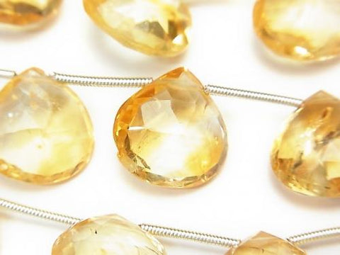 1strand $24.99! High Quality Citrine AAA- Chestnut  Faceted Briolette  1strand (10pcs )