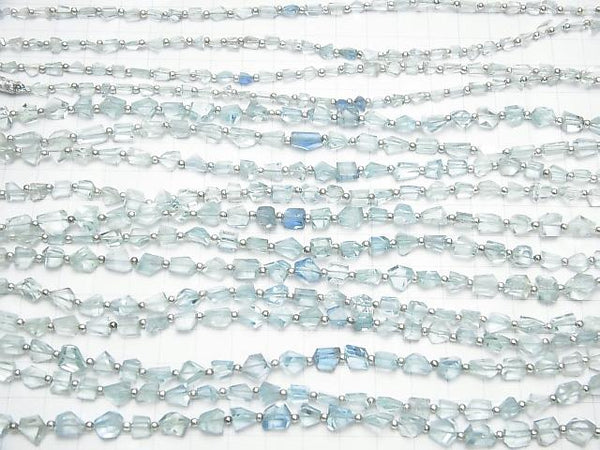 1strand $13.99High Quality Aquamarine AAA Faceted Nugget  1strand (aprx.7inch/18cm)