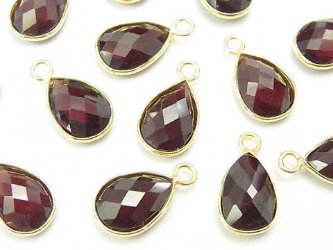 High Quality Garnet AAA Bezel Setting Faceted Pear Shape 12x8mm [One Side ] 18KGP 2pcs $8.79!