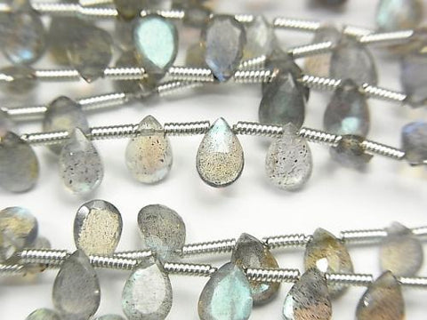 High Quality Labradorite AAA Pear shape  Rose Cut 6x4mm half or 1strand (aprx.7inch/18cm)