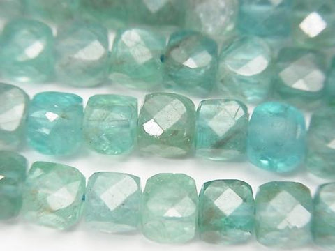 High Quality!  Apatite AA+ Cube Shape 5x5x5mm half or 1strand (aprx.15inch/37cm)