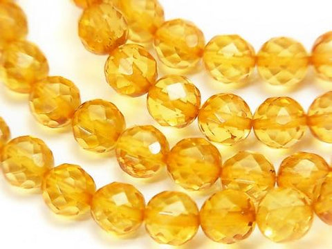 1strand $24.99! Baltic Amber 64 Faceted Round 6mm yellow color 1strand (Bracelet)
