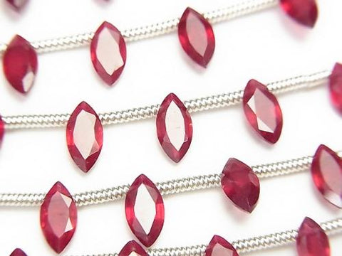 1strand $29.99! High Quality Ruby AAA Marquise  Faceted 8x4mm 1strand (8pcs )