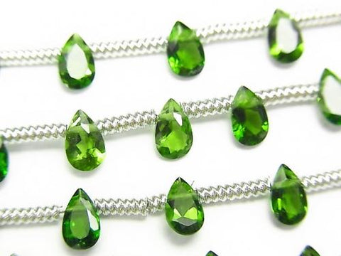 1strand $29.99! High Quality Green Tourmaline AAA Pear shape Faceted 5x3mm 1strand (18pcs)