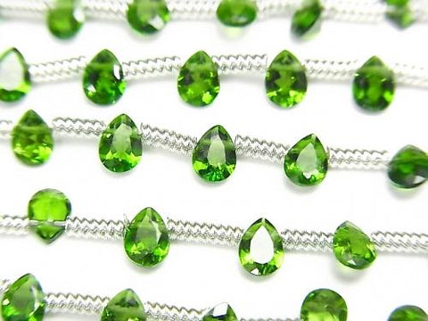 1strand $29.99! High Quality Green Tourmaline AAA Pear shape Faceted 4x3mm 1strand (28pcs)