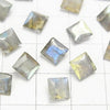 High Quality Labradorite AAA Undrilled Princess Cut 6x6x4mm 5pcs $7.79!