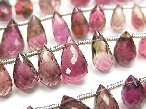 1strand $197.99! High Quality Pink Tourmaline AAA- Drop Faceted Briolette 1strand (aprx.8inch / 20cm)