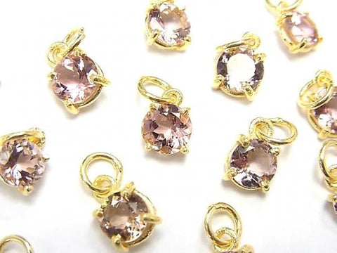 High Quality Pink Tourmaline AAA Bezel Setting Round Faceted 5.5x5.5mm 2pcs $19.99!