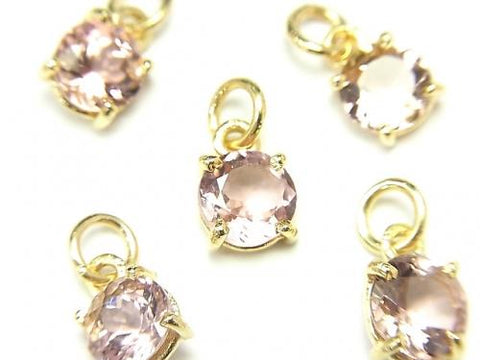 High Quality Pink Tourmaline AAA Bezel Setting Round Faceted 6x6mm 2pcs $24.99!