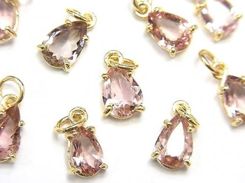 High Quality Pink Tourmaline AAA Bezel Setting Pear shape Faceted 2pcs $29.99!