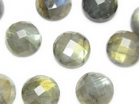 Labradorite AAA- Round  Faceted Cabochon 12x12mm 2pcs $11.79!