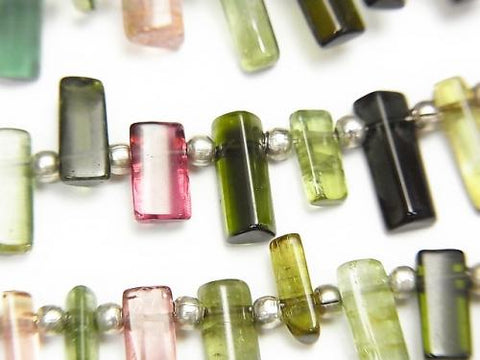 1strand $39.99! High Quality Multicolor Tourmaline AAA- Faceted Tube 1strand (aprx.8inch / 20cm)