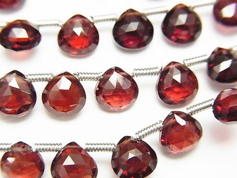 1strand $19.99! High Quality Mozambique Garnet AAA Chestnut Faceted Briolette 6x6mm 1strand (18pcs)