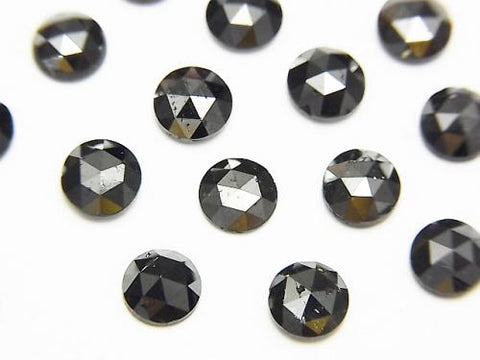 Black Diamond AAA Round Rose Cut 5x5x2mm 1pc $29.99!