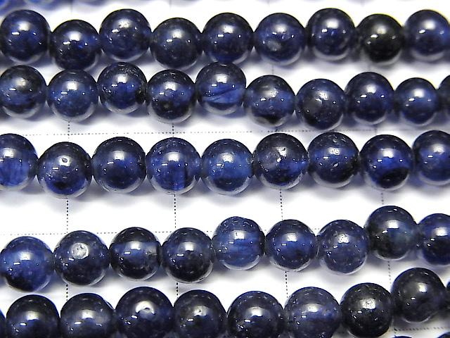 High Quality Blue Sapphire AA ++ Round 5mm half or 1strand (aprx.7inch / 18cm)