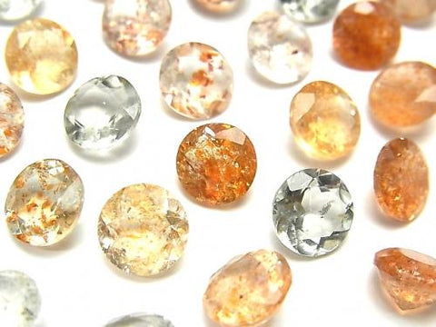 High Quality Multi Color Sun Stone AAA Undrilled Round Faceted 8x8mm 5pcs $12.99!