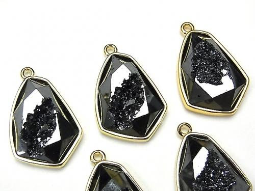 Druzy Agate Deformation Marquise Charm 24x17.5mm Black Color 2pcs $5.79!