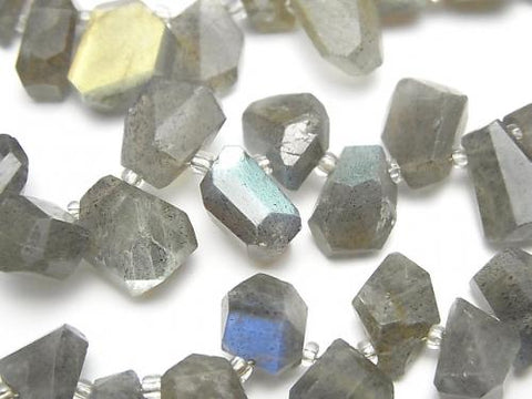 1strand $19.99Labradorite AAA- Faceted Nugget  Top Side Drilled Hole  1strand (aprx.6inch/16cm)