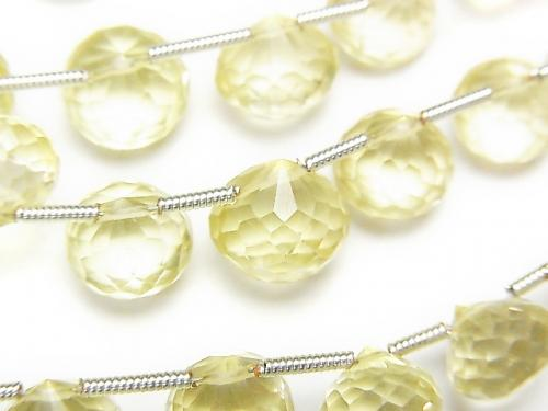 1strand $19.99! High Quality Lemon Quartz AAA Onion  Faceted Briolette  1strand (aprx.7inch/18cm)