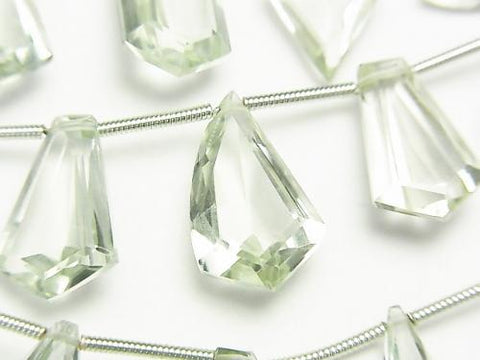 1strand $19.99! High Quality Green Amethyst AAA Fancy Shape Faceted 1strand (13pcs).