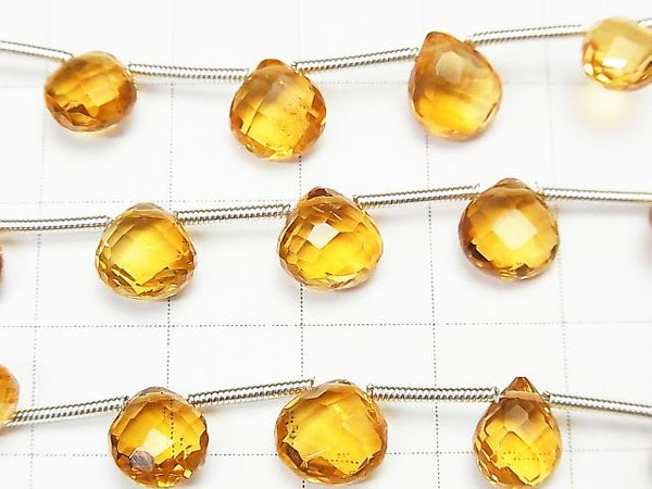 [Video] 1strand $24.99! High Quality Brandy Citrine AAA Chestnut Faceted Briolette 1strand (13pcs).