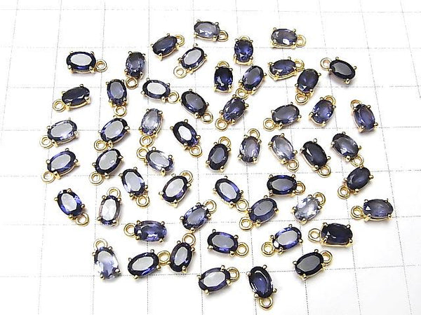 High Quality Iolite AAA Bezel Setting Oval Faceted 6x4mm 18KGP 2pcs $6.79!