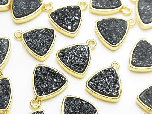 Druzy Agate Triangle Charm 11.5x11.5mm Black Color 2pcs $2.79!