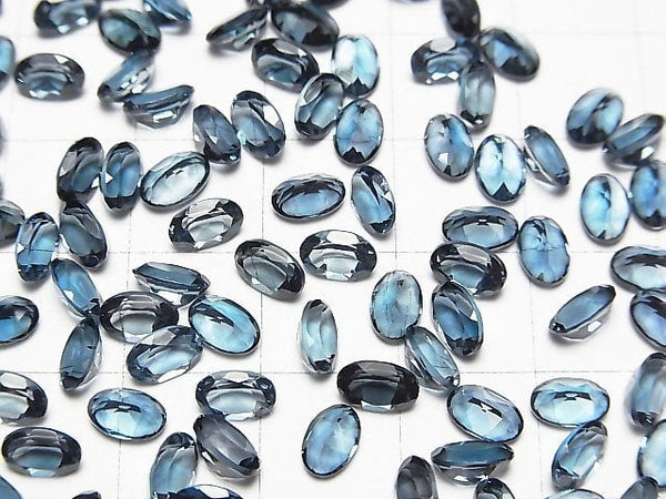 High Quality London Blue Topaz AAA Undrilled Oval Faceted 6x4mm 5pcs $15.99!