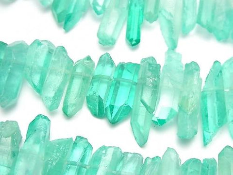 1strand $11.79! Crystal Natural Point Cut Blue Green Color Coating 1strand (aprx.15inch / 37cm)