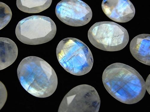 High Quality Rainbow Moon Stone AA ++ Undrilled Oval Faceted 16x12mm 2pcs $14.99!