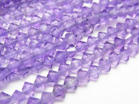 High Quality! 1strand $9.79! High Quality Light Color Amethyst AAA Faceted Button Roundel 4x4x3mm 1strand (aprx.15inch / 38cm)